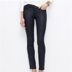 Ann Taylor Waxed Coated Skinny Jeans Petite